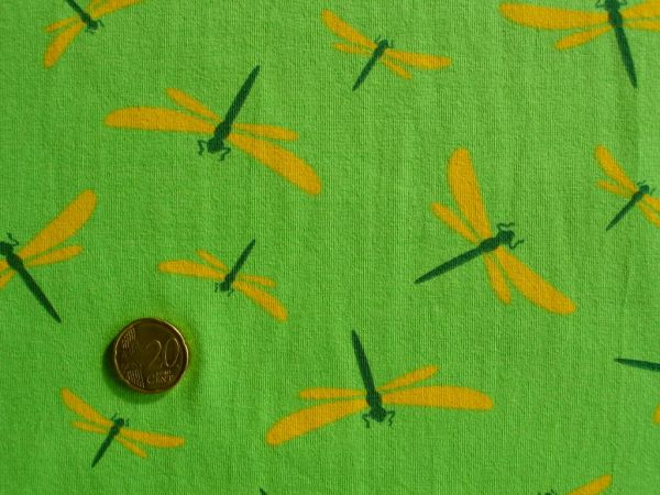 Hilco - Stretch-Jersey Libelles, grün