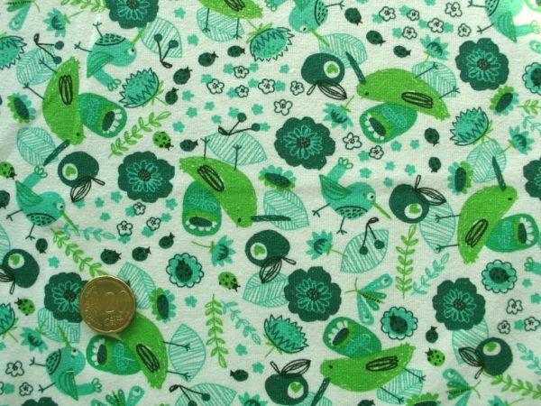 Hilco - Stretch-Jersey Passaros, grün