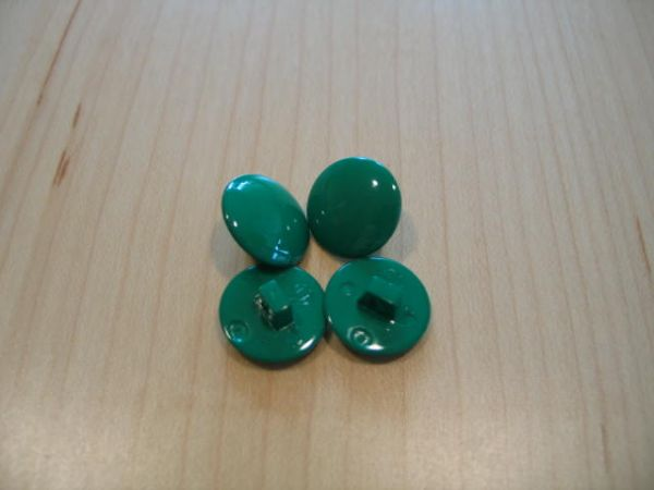 Union Knopf, Knopf mit Öse 15mm grün