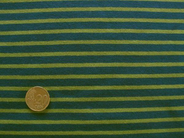 Hilco - Streifenjersey Campan, mittelblau-grasgrün