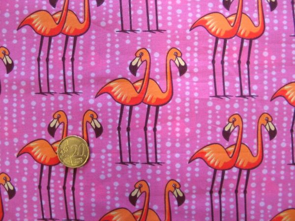 Hamburger Liebe - BW Popeline Flamingo, pink