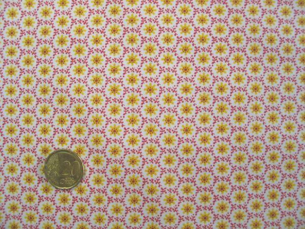 Hilco - Hilde Blumendruck, orange-gelb
