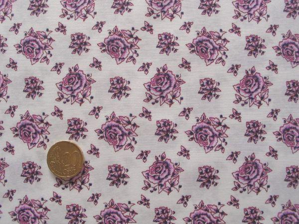 Hilco - Hilde Rosendruck rosa auf weiß