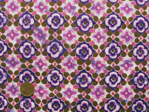 Hilco - Ornamentdruck Mexican Club, rosa-lila