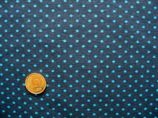 Hilco - Stretch-Jersey Pintas, dunkelblau-türkis