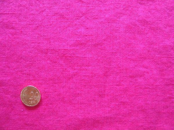 Hilco - Enzym washed Leinen, pink, Rest 100cm