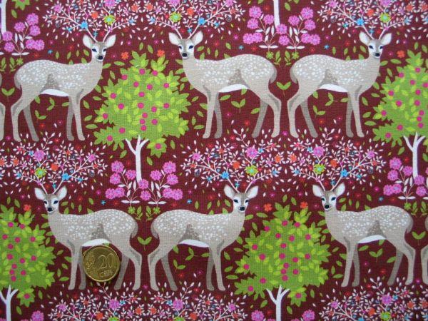 Hilco - Stretch-Jersey Shirt Winter Deer, schoko