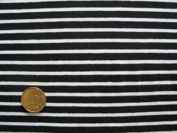 Hilco - Streifenjersey Campan, schwarz-weiß