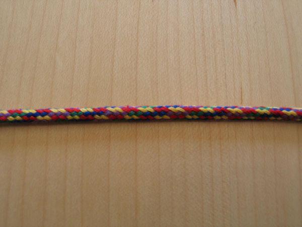 Baumwollkordel bunt 4mm