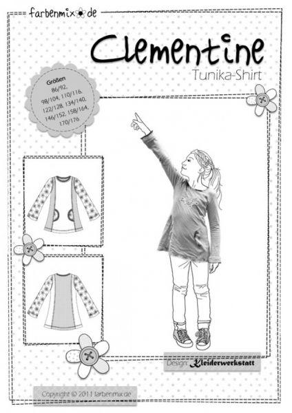 Farbenmix - CLEMENTINE Tunika-Shirt, Schnittmuster