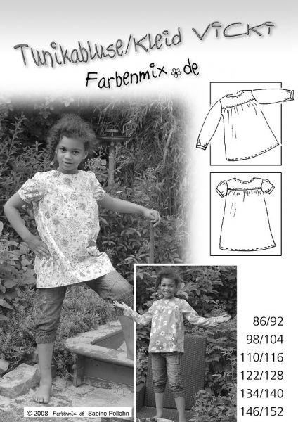 Farbenmix - Tunikabluse/Kleid VICKI, Schnittmuster