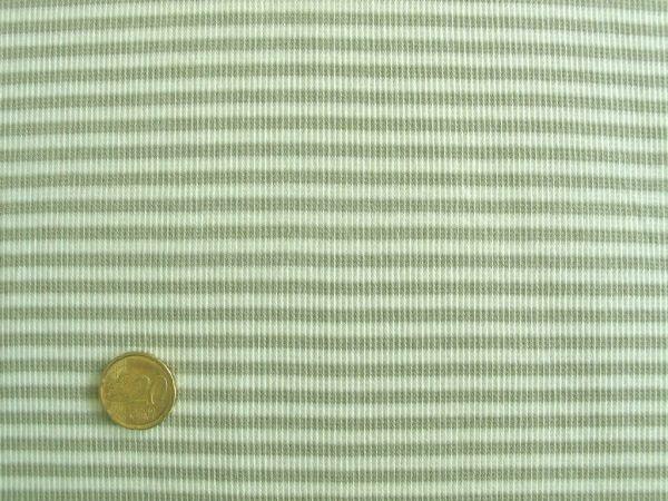 Hilco - Ringelbündchen, natur-beige, Stoffstück
