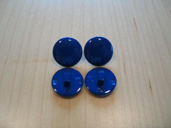 Knopf mit Öse 15mm royalblau