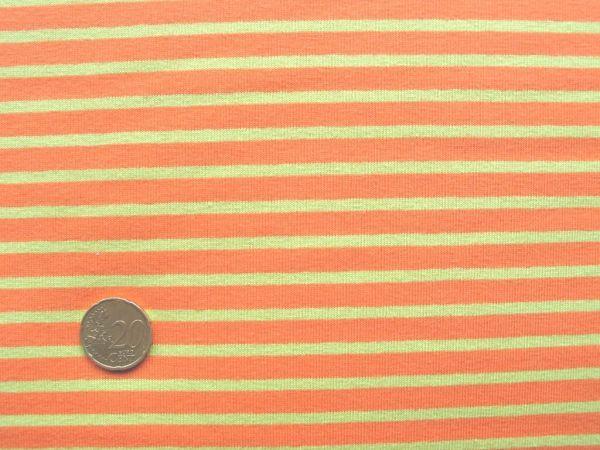Hilco - Streifenjersey Campan, orange-hellgrün