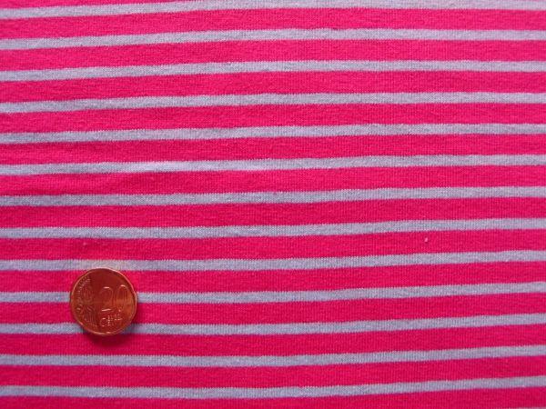 Hilco - Streifenjersey Campan, pink-hellblau
