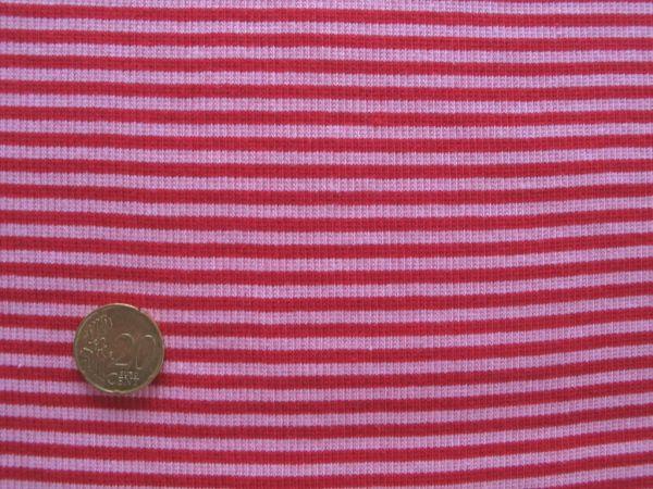 Hilco - Ringelbündchen, rot-rosa