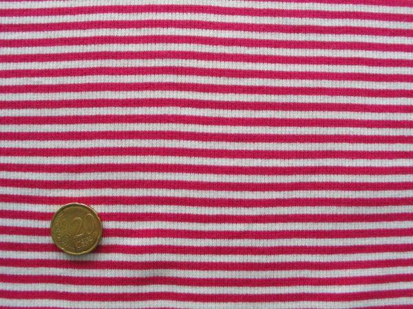 Hilco - Ringelbündchen, pink-weiß