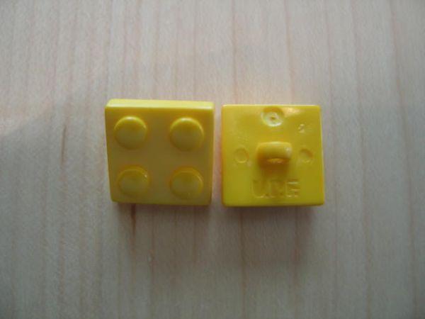 Union Knopf, Legostein 16mm gelb
