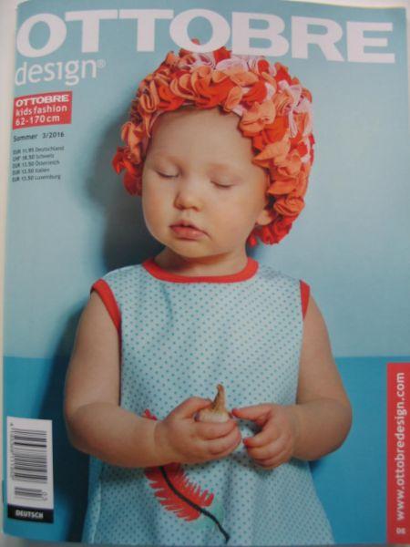 Ottobre Design Sommer 3/2016, Kids Fashion, Gr. 62-170cm