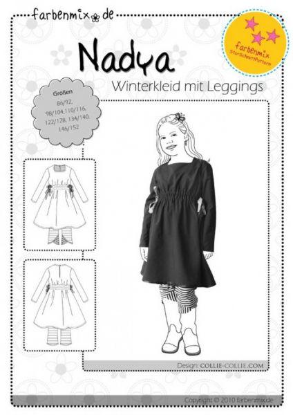 Farbenmix - Winterkleid mit Leggins NADYA, Schnittmuster