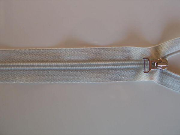 Reißverschluß Spirale teilbar, Kunststoff, ecru, 70cm