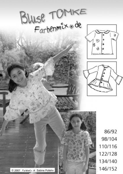 Farbenmix - Bluse Tomke, Schnittmuster