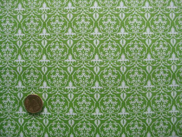 Hilco - Hilde Ornamentdruck, apfelgrün-weiß