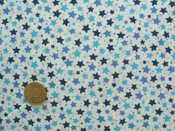 Hilco - Baumwollpopeline Little Stella, blau