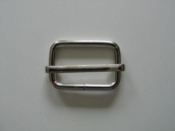 Schnalle verstellbar, Metall, Silber, 25 mm