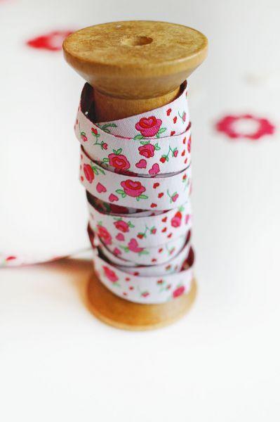 Farbenmix - Rosenband, weiß