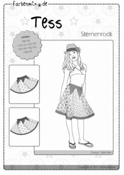 Farbenmix - TESS Sternenrock, Schnittmuster