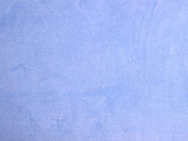 Hilco - Nicky-Velour hellblau, Reststück 50cm