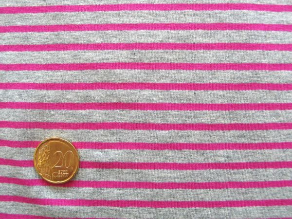 Hilco - Streifenjersey Campan, grau-pink