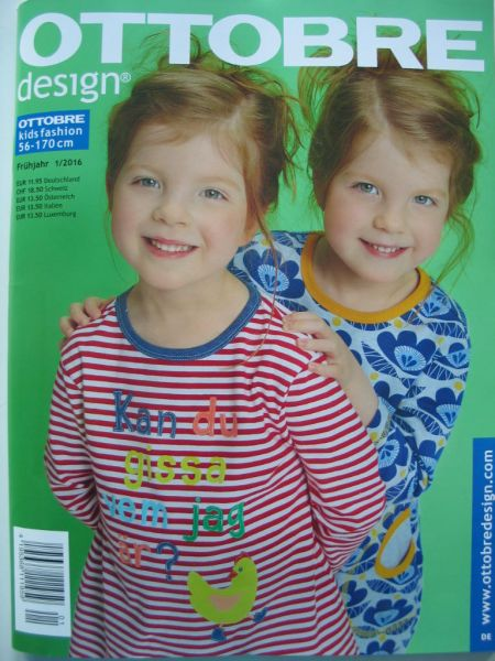 Ottobre Design Frühjahr 1/2016, Kids Fashion, Gr. 56-170cm