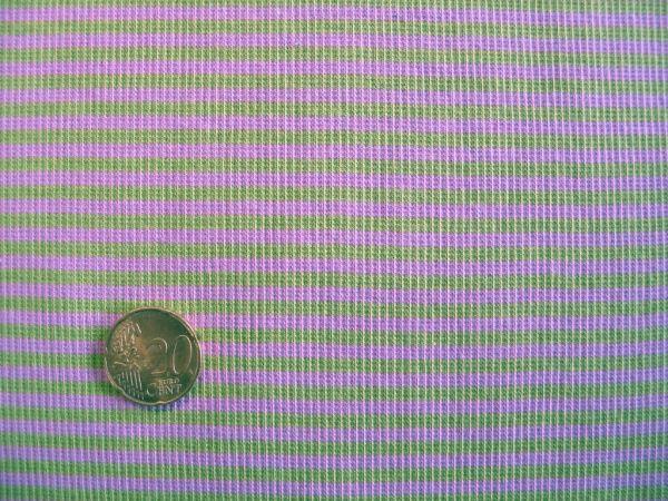 Hilco - Ringelbündchen, blaßrosa-hellgrün