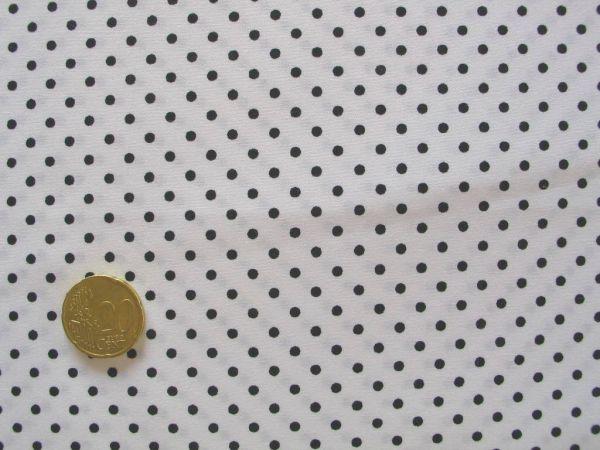 Hilco - Hilde Pünktchendruck, weiß-schwarz