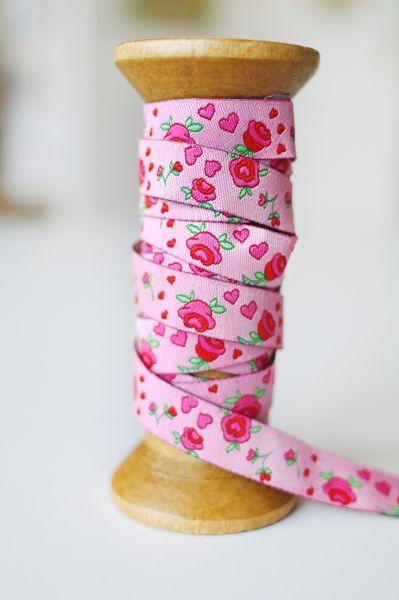 Farbenmix - Rosenband, rosa