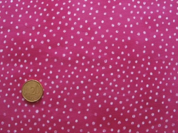 Hilco - Stretch-Jersey Otter Dots, beere