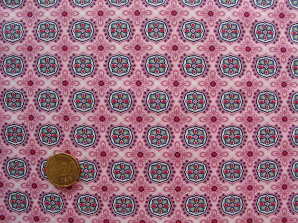 Hilco - Baumwollpopeline Abby Love, rosa, Reststück 87cm