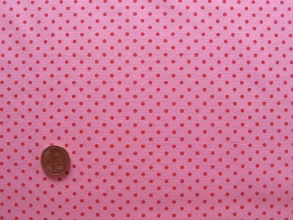 Hilco - Hilde Pünktchendruck, rosa-rot