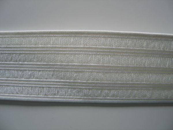 Prym Nahtbahnenband 40mm gesäumt elastisches Tape, weiß