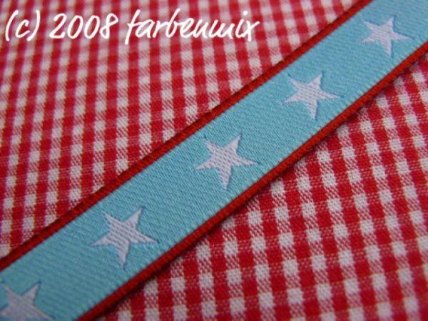 Farbenmix - Sterneband, rot-hellblau