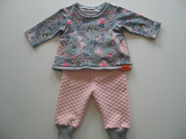 MINETI - Kombi Embroidery Swan, Tunika mit Hose, Gr. 62-68