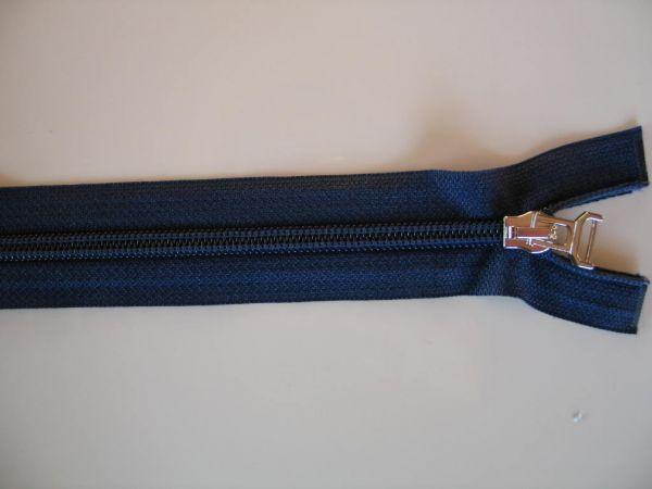Reißverschluß Spirale teilbar, Kunststoff, blau, 60cm
