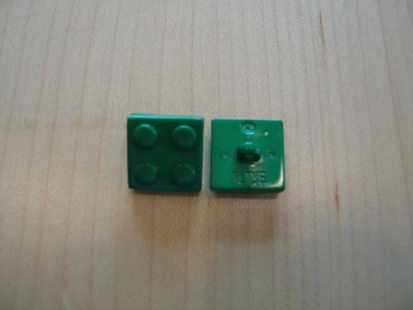 Legostein 16mm grün