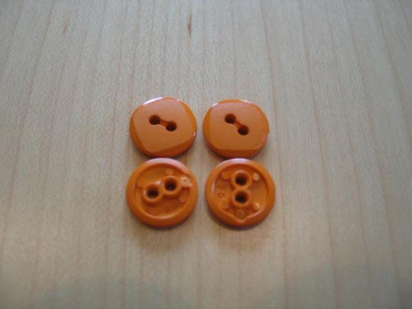 Knopf 2-Loch 13mm orange