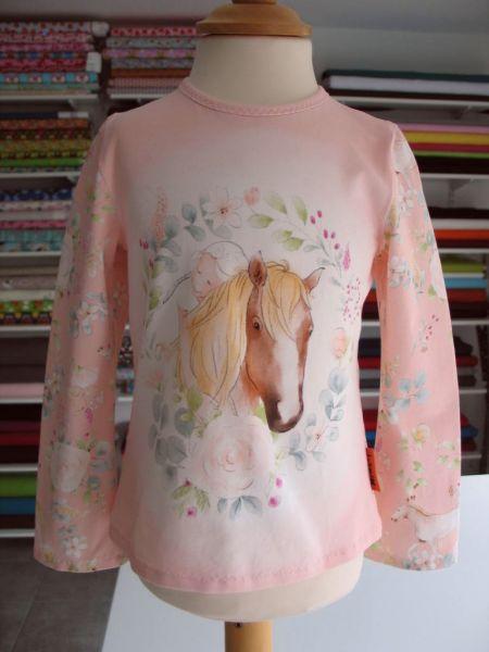 MINETI - Shirt Horse, rosa, Gr. 110-116