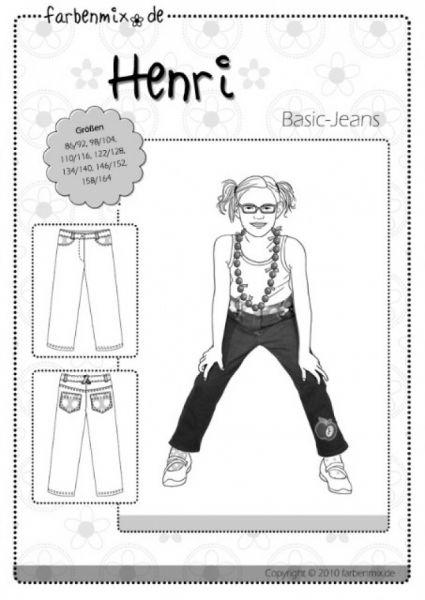 Farbenmix - Basic-Jeans HENRI, Schnittmuster