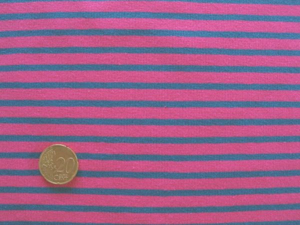 Hilco - Streifenjersey Campan, pink-petrol