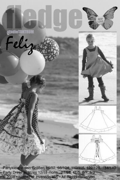 Farbenmix - Partykleid FeliZ, Schnittmuster